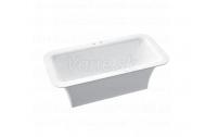 Marmorin TYTAN BATHTUBE voľne stojaca vaňa liaty mramor 179x89x62 cm biela