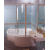 Ravak VSK2 ROSA 160 P vaňová zástena, Pravá, otočný a pevný diel, Biela, výplň vzor Rain