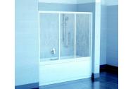 Ravak AVDP3-170 vaňová zástena, posuvné trojdielne dvere, Biele, sklo vzor Grape