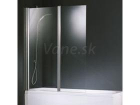 Santech Aurora 2 vaňová zástena, 2-dielna, 120x150, rám chrómový, výplň sklo číre