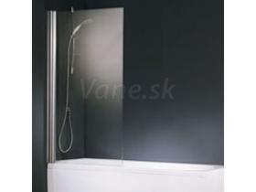 Santech Aurora 1 vaňová zástena, 1-dielna, 80x150, rám chrómový, výplň sklo číre