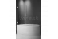 Vaňová zástena SV1 80x135cm, ľavá, jednostranne otvárateľná, sklo Chinchilla, pánty chróm