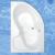 Roltechnik TULLIP akrylátová asymetrická vaňa, ľavá 160x100cm/210L
