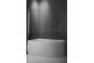 Vaňová zástena SWING 85x140cm, obojstranne otvárateľná, strieborný profil, číre sklo