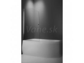 Roltechnik Vaňová zástena SWING 85x140cm, obojstranne otvárateľná,strieb.prof,číre sklo