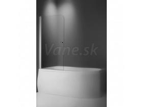 Roltechnik Vaňová zástena TV1 75x140cm, obojstranne otvárateľná, profil Brillant,číre sklo