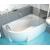 Ravak Rosa 95 - Asymetrická vaňa, 160x95, biela, Pravá C581000000 + vaň.krycie lišty