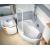 Ravak Rosa II - Asymetrická vaňa, 160x105, biela, Ľavá CM21000000 + vaň.krycie lišty