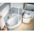 Ravak Rosa II - Asymetrická vaňa, 160x105, biela, Pravá CL21000000 + vaň.krycie lišty
