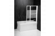 Sapho VENUS 2 pneumatická zástena 106(67)x140 cm biely rám