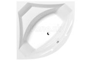 Polysan ROSANA rohová vaňa 140x140x49cm, biela +silikón zadarmo