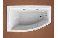 Santech FIONA asymetrická masážna vaňa 160x95 L Body 200 +autom.dohriev.vody ZADARMO