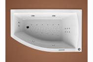 Santech FIONA asymetrická masážna vaňa 150x85 P Fitnes 200 +aut.dohr.vody+preplach ZADARMO