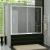 Ronal Vaňové posuvné dvere s pevnou stenou v rovine 1600x1500, Biela,sklo Cristal Perly