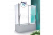 Roltechnik Vaňová zástena s posuvnými dverami PXV2L 170x150 (P), brillant, sklo číre