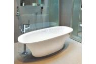 Aquatek AMY voľne stojaca vaňa tvrdený liaty kameň 170x74cm biela+akcia sifón
