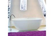 Aquatek CINDY voľne stojaca vaňa tvrdený liaty kameň 150x75cm biela+akcia sifón