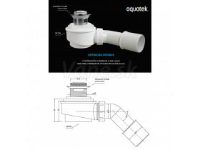 Aquatek vaňový sifon odtokový systém Klik-Klak.