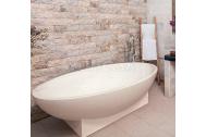 Aquatek DIANA voľne stojaca vaňa tvrdený liaty kameň 190x109,3x55cm biela+akcia sifón