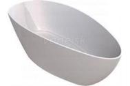 Sapho RITA XL gelco-elipsie voľne stojaca vaňa liaty mramor 170x70x62 cm biela lesk