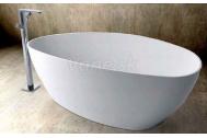 WHITE STONE 157x71x46 voľne stojaca vaňa+sifón, Biela lesklá M4815701