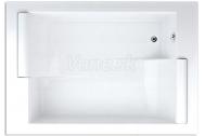 Teiko ASTERIA obdĺžniková vaňa pre 2 osoby 195x135x46cm, 495 l, biela, vr. podhlavníkov