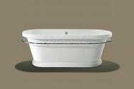 Knief LOFT V voľne stojaca akrylátová vaňa 180x83,5x69cm, 230l, biela