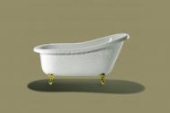 Knief SLIPPER voľne stojaca akrylátová vaňa 151,5x72,5x78,5/57cm, 135l, biela
