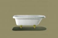 Knief ROLL TOP voľne stojaca akrylátová vaňa 152,5x72x55cm, 160l, biela