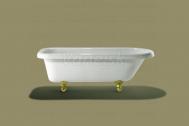 Knief ROLL TOP XL voľne stojaca akrylátová vaňa 166,5x71,5x57,5cm, 180l, biela