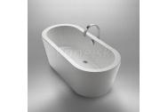 Knief HOT voľne stojaca akrylátová vaňa 180x80x60cm, 240l, biela