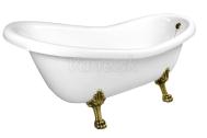 Polysan RECTIME RETRO voľne stojaca vaňa 160x73x82cm nohy bronz, biela