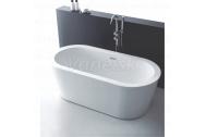 Aquatek BOSTON voľne stojaca akrylátová oválna vaňa 170x80x60cm,vr.ClickClack, Biela