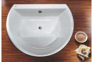 Kolo FURORA voľne stojaca akrylátová kruhová vaňa+sedadlo 165x130 cm