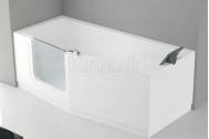 Santech-Novellini IRIS vaňa s dvierkami 160x80 Ľavá + opierka, akcia Doprava zadarmo
