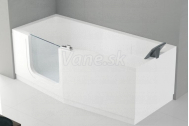 Santech-Novellini IRIS vaňa s dvierkami 180x85 Ľavá + opierka, akcia Doprava zadarmo