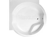 Polysan ROYAL CORNER atypická vaňa s konštrukciou 172x172x49cm, biela +silikón zadarmo