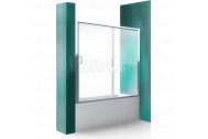 Roth LLV2 140/150 Zástena vaňová Posuvné dvere Briliant/Číre sklo