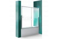 Roth LLV2 150/150 Zástena vaňová Posuvné dvere Briliant/Číre sklo